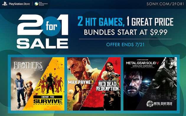 PlayStation Store: paquete de 2x1 desde $9.99 dólares