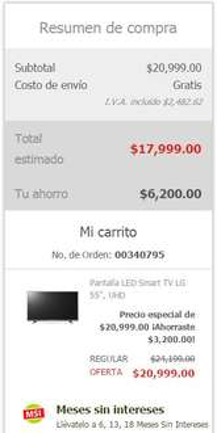 "Soriana en línea: Pantalla LED Smart TV LG 55"" 4K a $17,999"