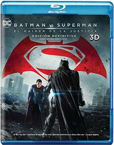 Amazon MX: PREVENTA:  Batman vs. Superman: El Origen de la Justicia (Blu-ray 3D) Edicion definitiva con 4 discos en $349