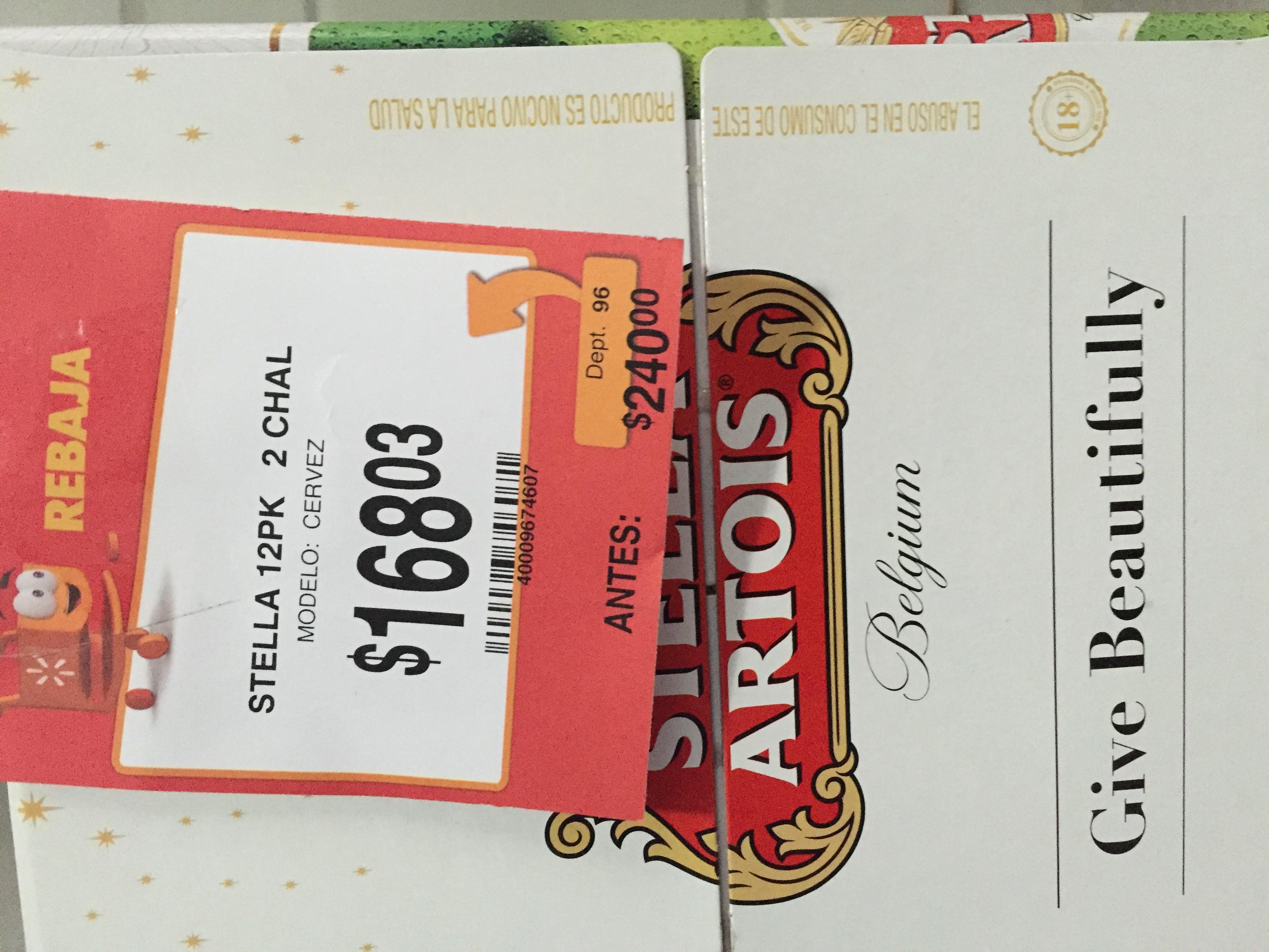 Walmart: Cerveza Stella Artois 12 pack a $168.03