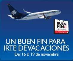 Ofertas del Buen Fin en Aeroméxico