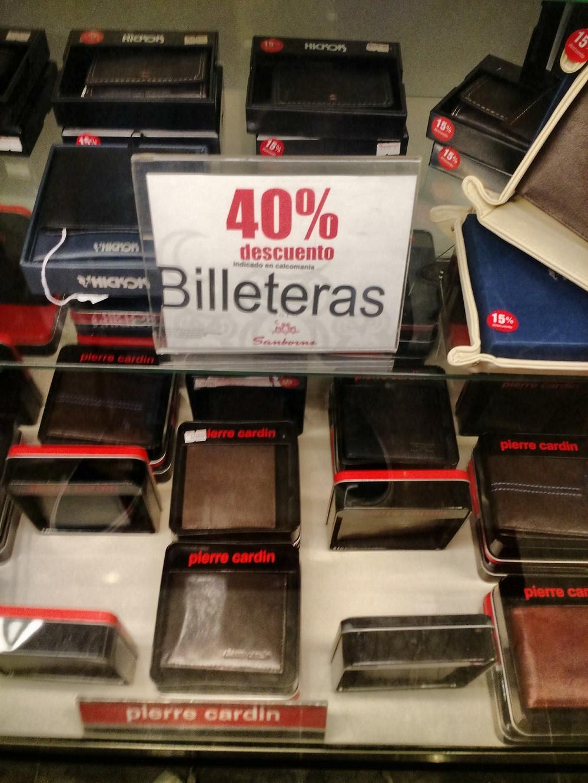 Sanborns: hasta 40% en carteras/billeteras