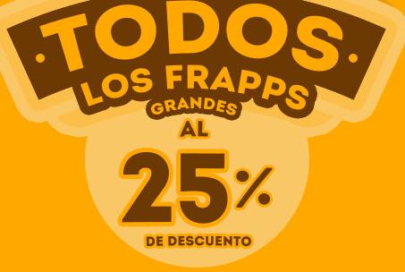 """Cinemex: Con """"Invitado Especial"""" 25% de descuento en Frappes Grandes"""