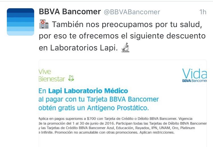 Bancomer: Antígeno prostatico en Lapi