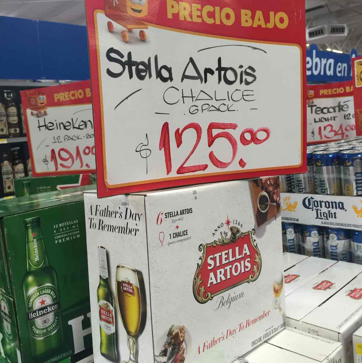 Walmart: Stella Artois Six Pack + Copa de regalo $125