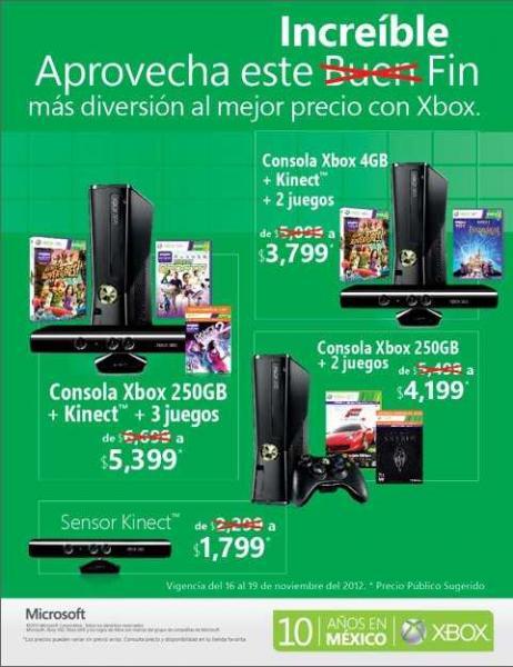 Ofertas del Buen Fin de Xbox México: $1,300 menos en consolas seleccionadas