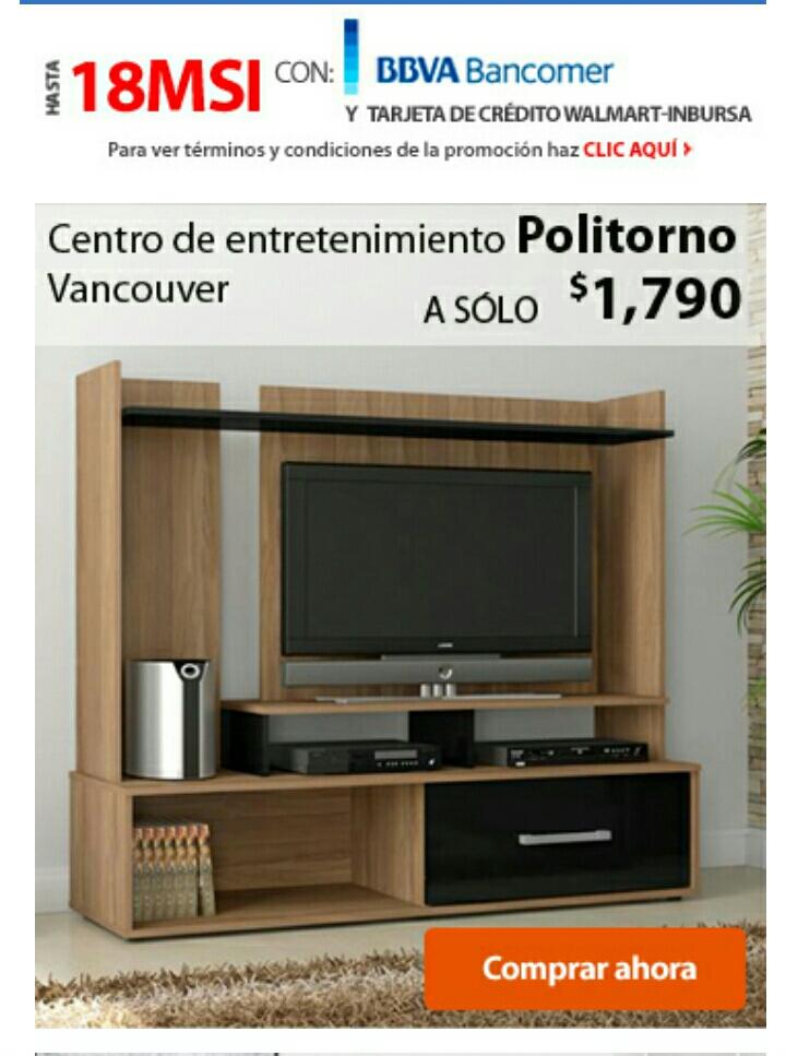 Walmart en línea: mueble para sala, centro de entretenimiento