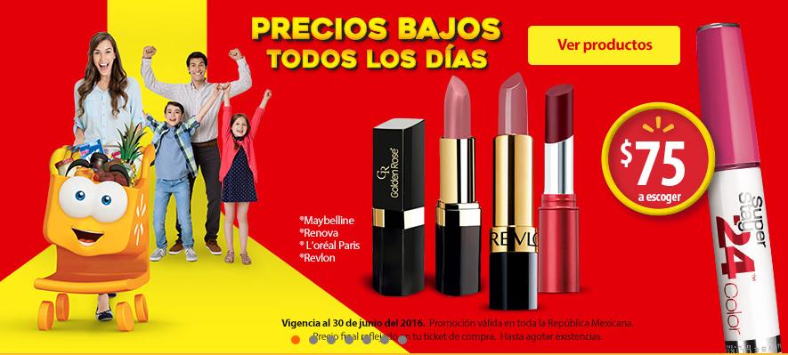 Walmart en línea: Maquillaje con más del 50% de descuento