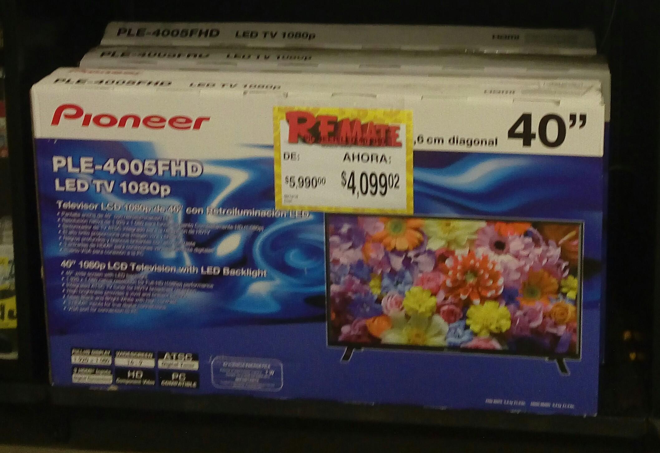 "Bodega Aurrerá Coyol Veracruz: TV LED Pioneer 40"" a $4,099.02"