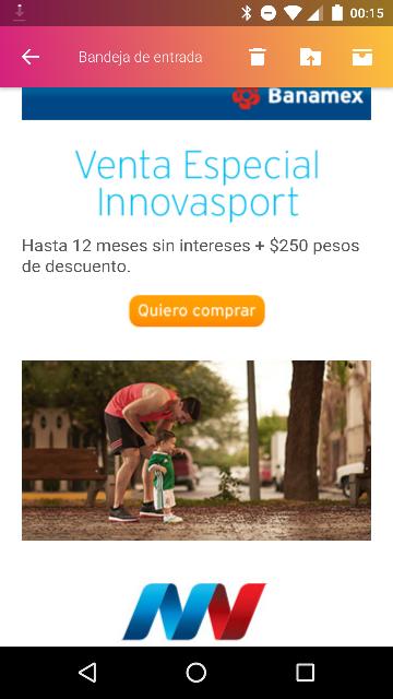 $250 de descuento en InnovaSport con Banamex