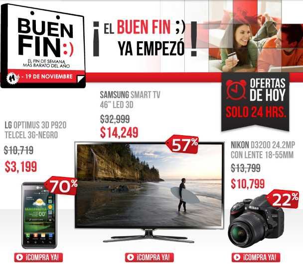 """Ofertas del Buen Fin en Linio: Samsung Smart TV LED 46"""" 3D a $14,240 y más"""