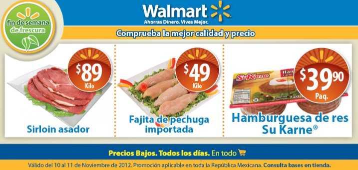 Fin de semana de frescura Walmart Noviembre 10: fajita de pechuga $49 y más