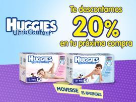 Chedraui: Cupón 20% descuento en Huggies Ultraconfort
