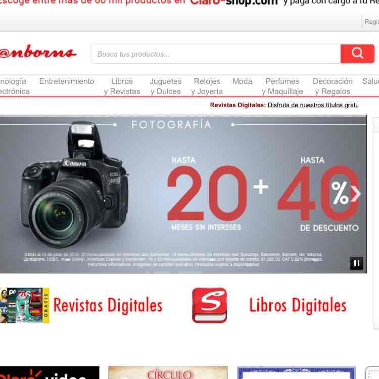 Sanborns: FOTOGRAFÍA hasta 20 sin intereses + hasta 40 % de descuento