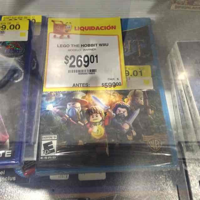 Walmart Puebla Ánimas: Lego The Hobbit Wii U a $269.01