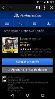Playstation Network: Tomb Raider a $7.50 dólares o $4.50 dólares para usuarios PS Plus