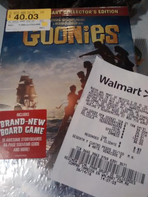 Walmart Unidad Plaza Oriente: serie The Goonies completa a $25.01