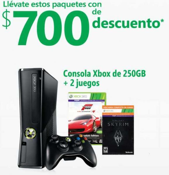 Rebajas en Xbox 360 de 250GB y en sensor Kinect (varias tiendas)