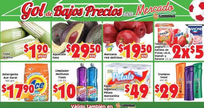 Ofertas de frutas y verduras en Soriana julio 15 y 16
