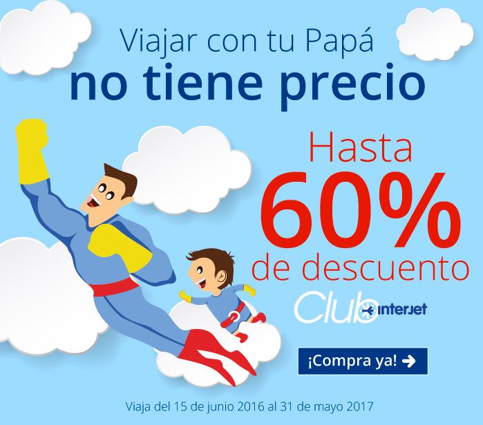 Interjet: Hasta 60% de descuento en vuelos de junio 2016 a mayo 2017 para miembros Club Interjet