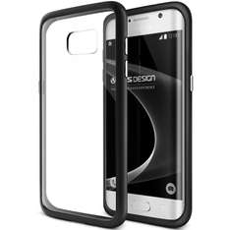 Amazon: VRS Design 904419 Funda Crystal Mixx Samsung Galaxy S7 EDGE, color Negro