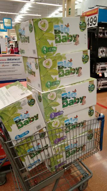 Walmart: Pañales Bio Baby 114 pañales x $299