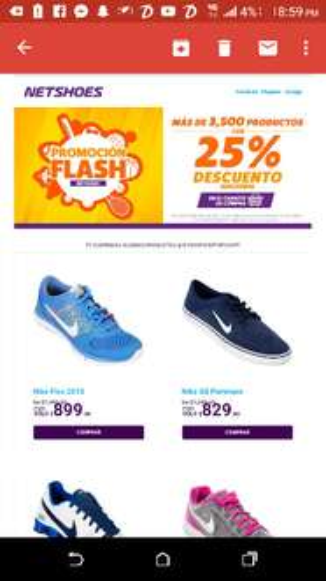 Netshoes: Promo flash productos con 25% de descuento adicional.