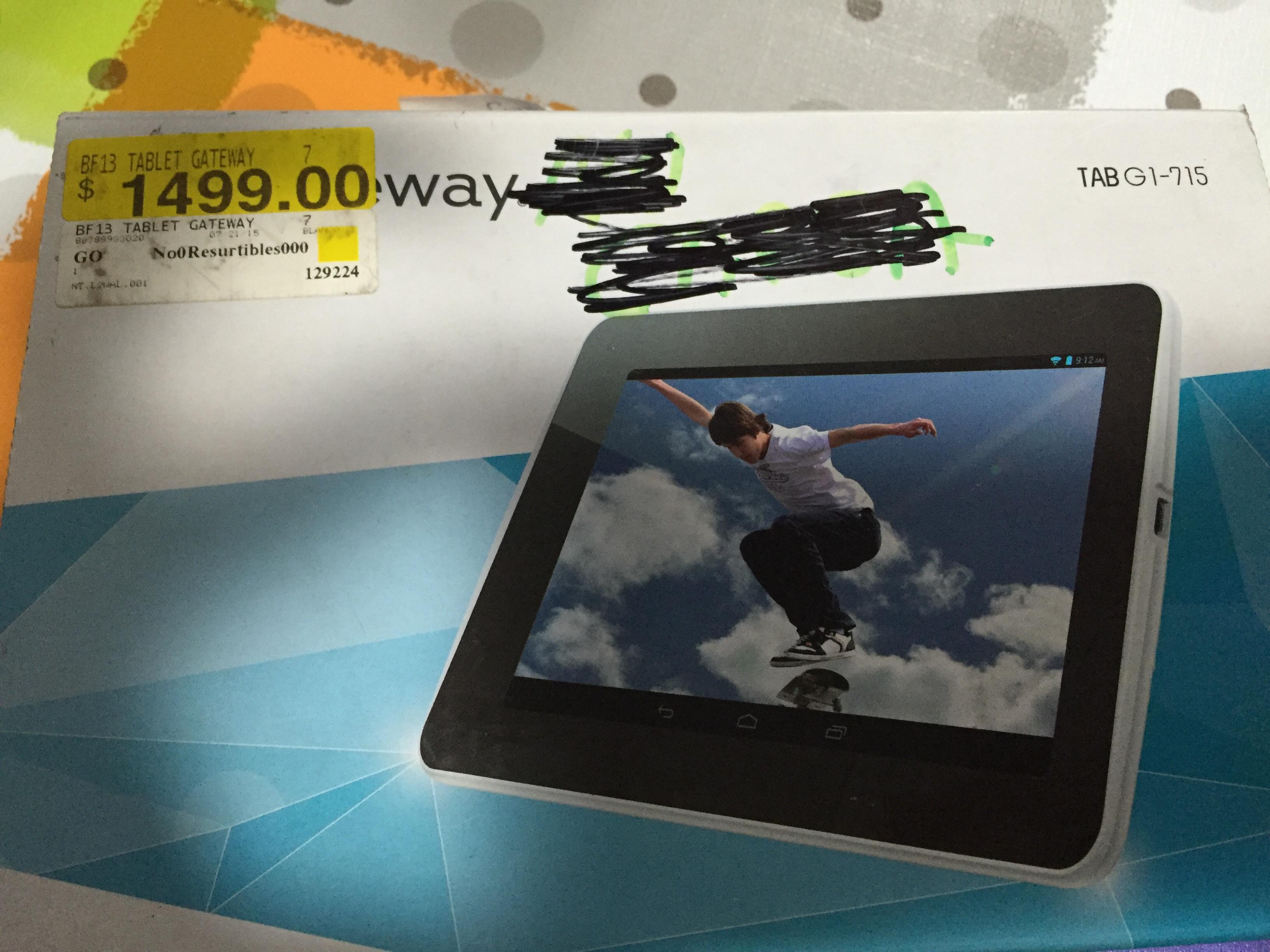 Walmart Cuajimalpa: Tablet Gateway G1-715 a $649.01