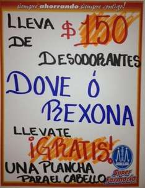 Farmacias Guadalajara: plancha para pelo gratis comprando desodorantes Rexona o Dove