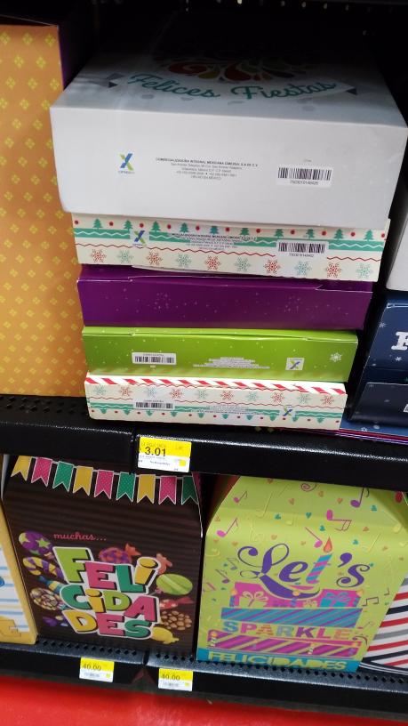 Walmart Istmo: cajas de regalo, muy útiles a $3.01