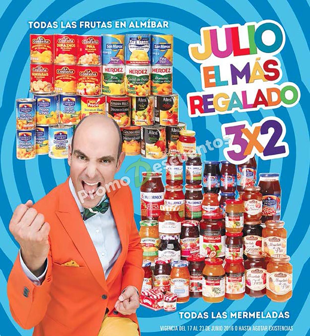 Folleto de Julio Regalado 2016 en Soriana y Comercial Mexicana del 17 al 23 de junio
