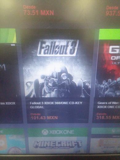 G2A: Fallout 3 para Xbox 360/One $107