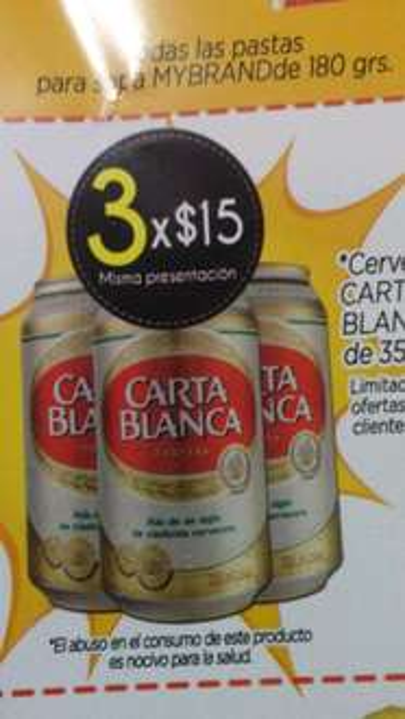 Super Aki: 3 latas de Carta Blanca por $15