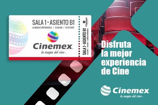 Urbancheck: entrada a cinemex tradicional $45