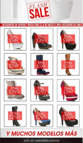LOB: hasta 60% de descuento en zapatos de mujer (online)
