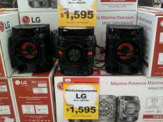 Chedraui Ote Mérida: Minicomponente LG (bluetooth, wireless tv sound) a $1,595