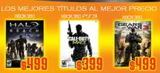 Blockbuster: Halo Reach o GW3 a $499, MW3 $399 y $700 menos en Xbox 360 250GB