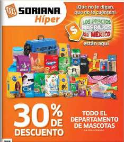 Folleto Soriana: 3x2 en detergentes líquidos, 30% de descuento en depto de mascotas y más