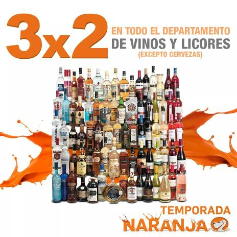 Temporada Naranja (antes Julio Regalado) en La Comer: 3x2 en vinos y licores