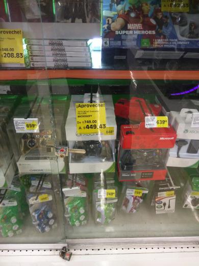 La Comer Pilares: control Xbox 360 a $448