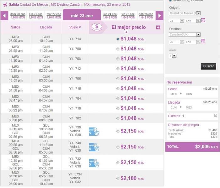 Volaris: vuelos redondos del DF, GDL y Toluca desde $1,999 (Dic-Ene) y vuelos desde $699 (agosto 2013)