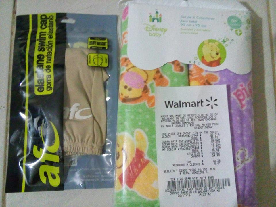 Walmart Campeche: gorras, cobertores y  juego de globos en oferta