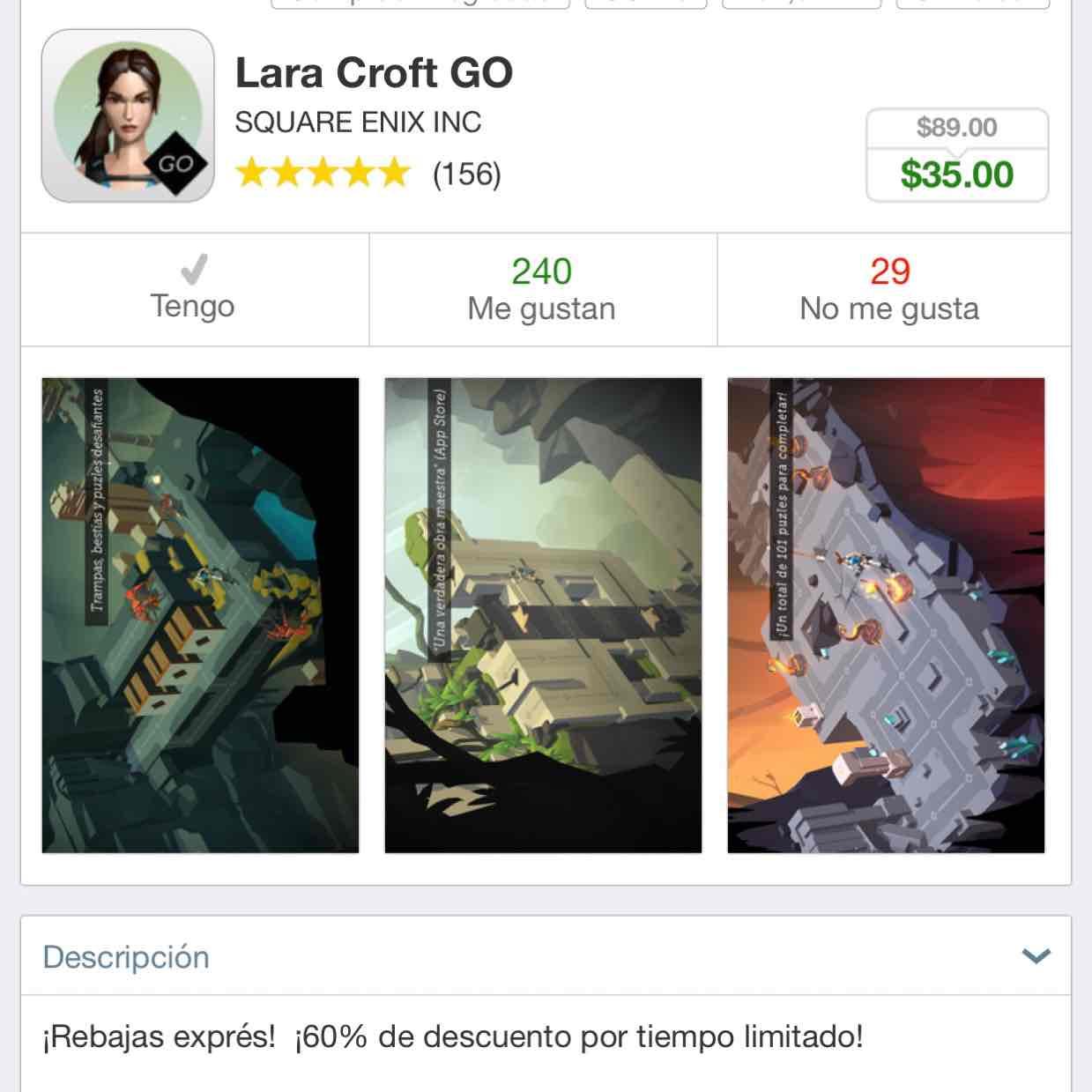App Store: Lara Croft GO iOS