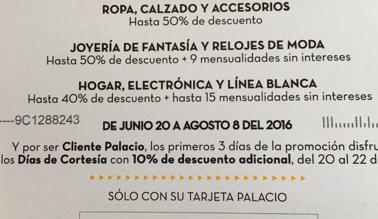 Rebajas Palacio de Hierro. Hasta 50% de descuento en ropa y accesorios. 10% adicional para clientes Palacio los primeros 3 días