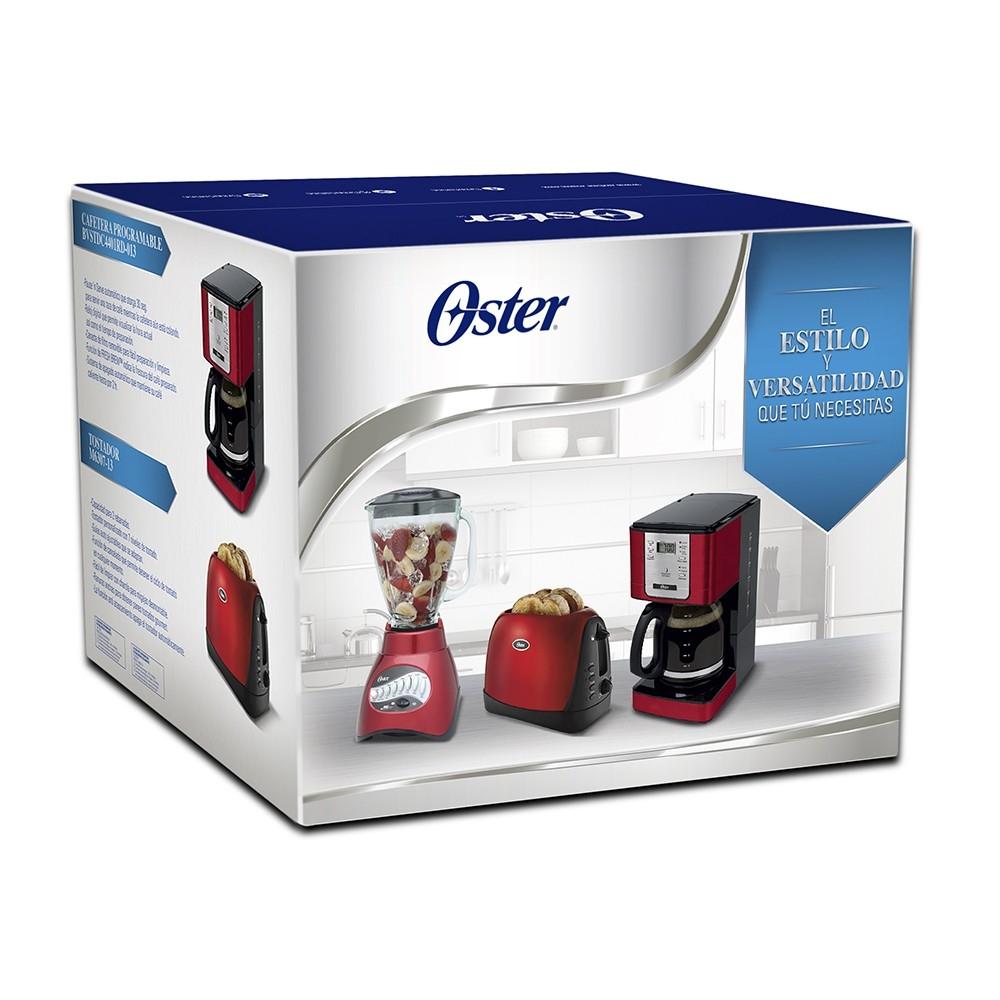Walmart en línea: Combo de Electrodomésticos Oster 3 Piezas Rojo a solo $990