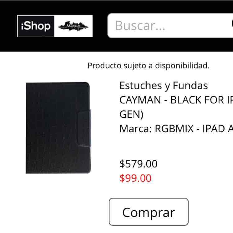 iShop Mixup en línea: Fundas para iPad Air en $99 + $39 de envío