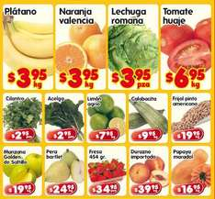 Frutas y verduras en HEB: plátano y naranja $3.95 c/u, tomate $6.95 y más