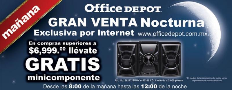 Venta Nocturna Office Depot por internet 31 de octubre (actualizado)