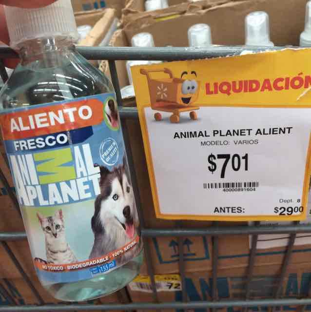 Walmart Comalcalco Cancún: Spray para el aliento Animal Planet de $29 a $7
