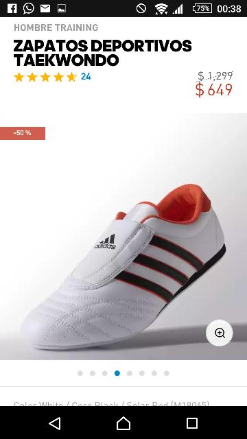 Adidas en línea: Zapatos Deportivos Taekwondo a $649